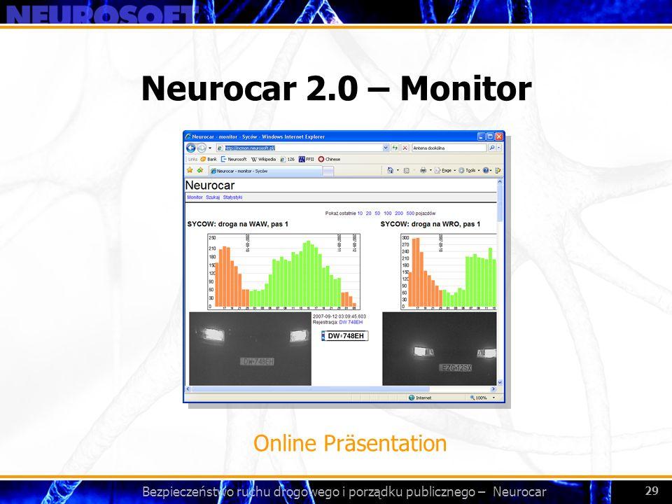 Bezpieczeństwo ruchu drogowego i porządku publicznego – Neurocar 29 Neurocar 2.0 – Monitor Online Präsentation