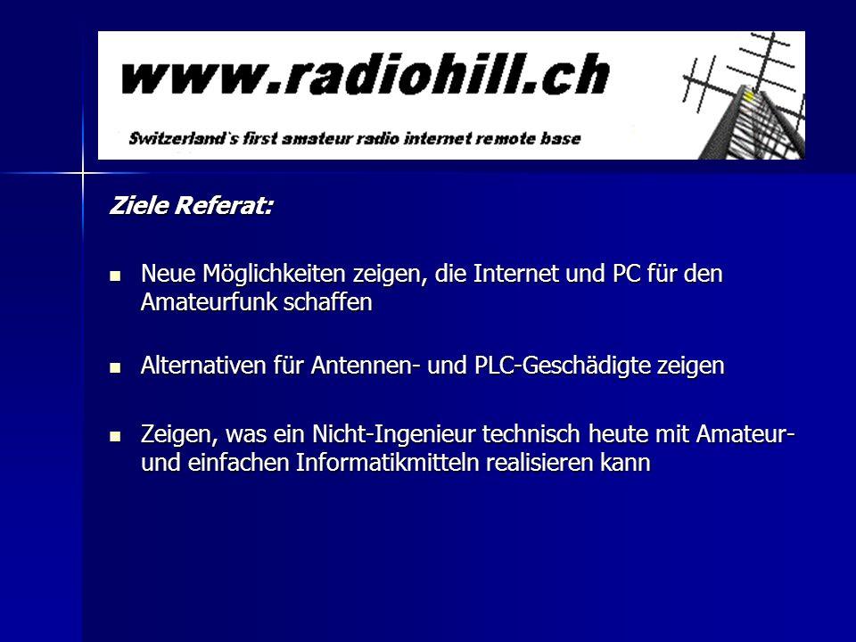 Agenda: –Warum überhaupt Radiohill.