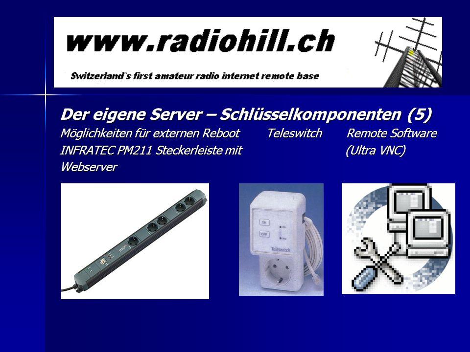 Der eigene Server – Schlüsselkomponenten (5) Möglichkeiten für externen Reboot Teleswitch Remote Software INFRATEC PM211 Steckerleiste mit (Ultra VNC)