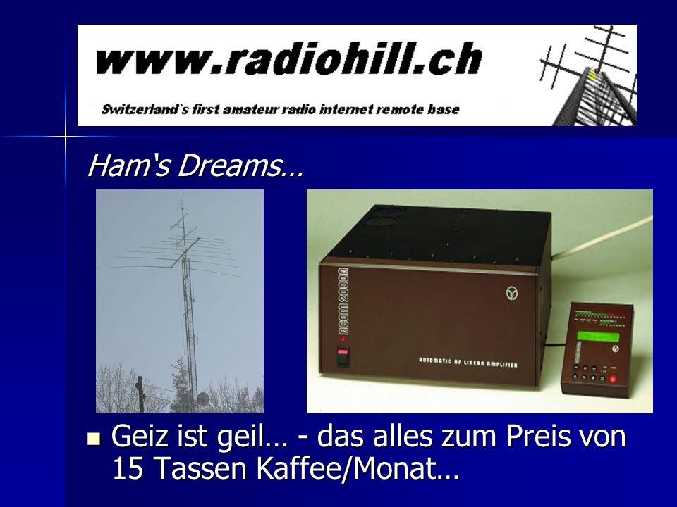 Hams Reality… Antennenverbote Antennenverbote Bewilligungsbürokratie (Bewilligung kostet mehr als Anlage!) Bewilligungsbürokratie (Bewilligung kostet mehr als Anlage!) NIS-Verordnung, Strahlungshysterie NIS-Verordnung, Strahlungshysterie man made noise (PLC-Schrott, PC, Schaltnetzteile, Bärn mobil…) man made noise (PLC-Schrott, PC, Schaltnetzteile, Bärn mobil…) Ärger mit Nachbarn, Hauseigentümern Ärger mit Nachbarn, Hauseigentümern
