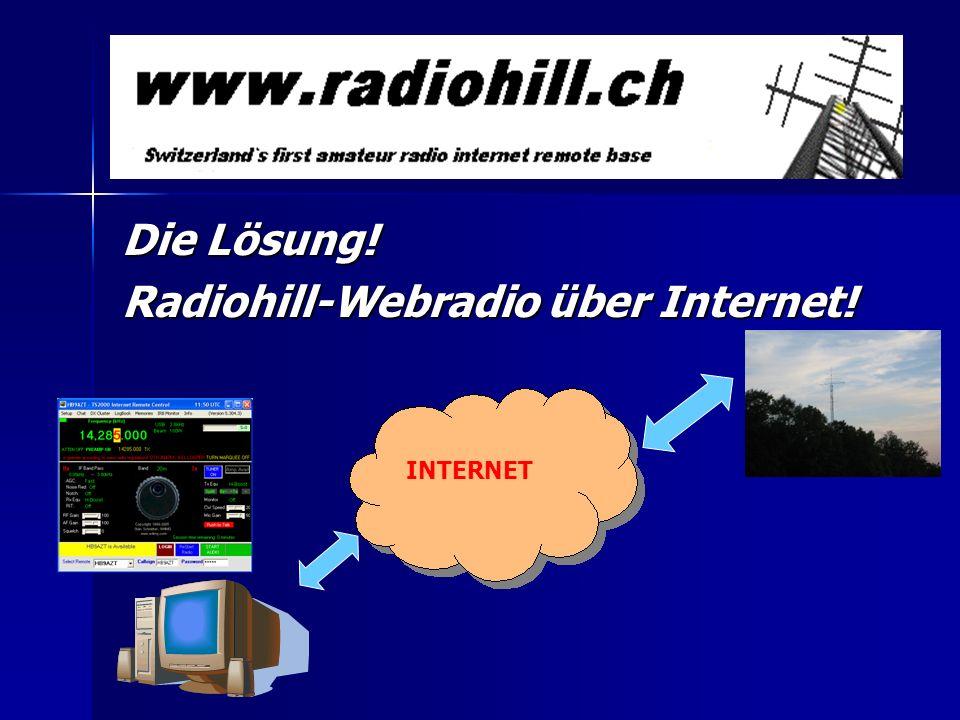 Die Lösung! Radiohill-Webradio über Internet! INTERNET