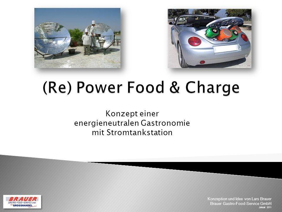 Konzept einer energieneutralen Gastronomie mit Stromtankstation Konzeption und Idee von Lars Brauer Brauer Gastro-Food-Service GmbH Januar 2011