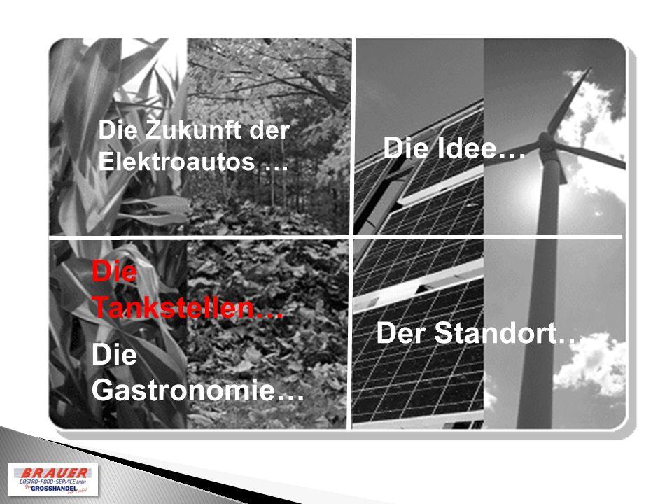 Die Idee… Die Zukunft der Elektroautos … Der Standort… Die Tankstellen… Die Gastronomie…