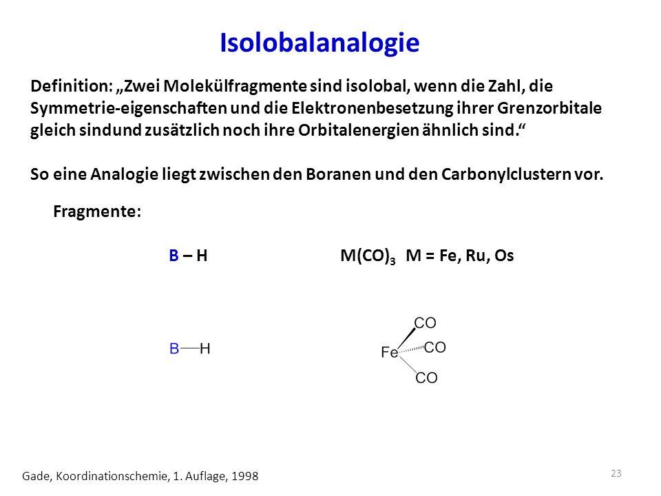 Isolobalanalogie Gade, Koordinationschemie, 1.