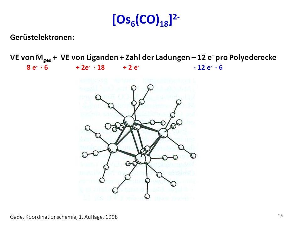 [Os 6 (CO) 18 ] 2- Gade, Koordinationschemie, 1.
