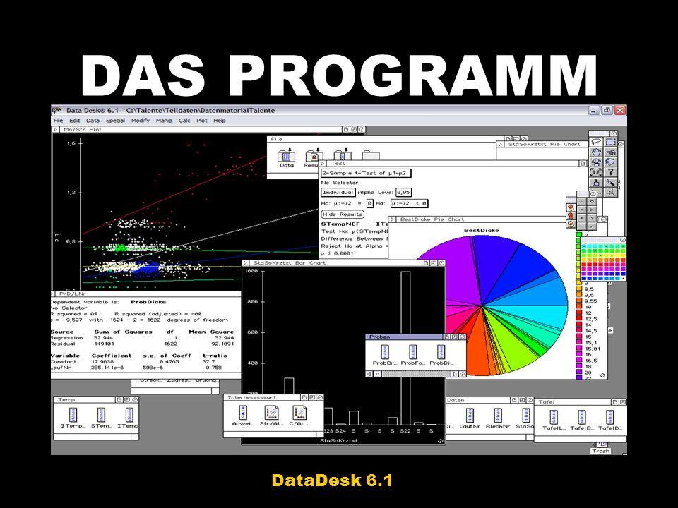 DAS PROGRAMM DataDesk 6.1