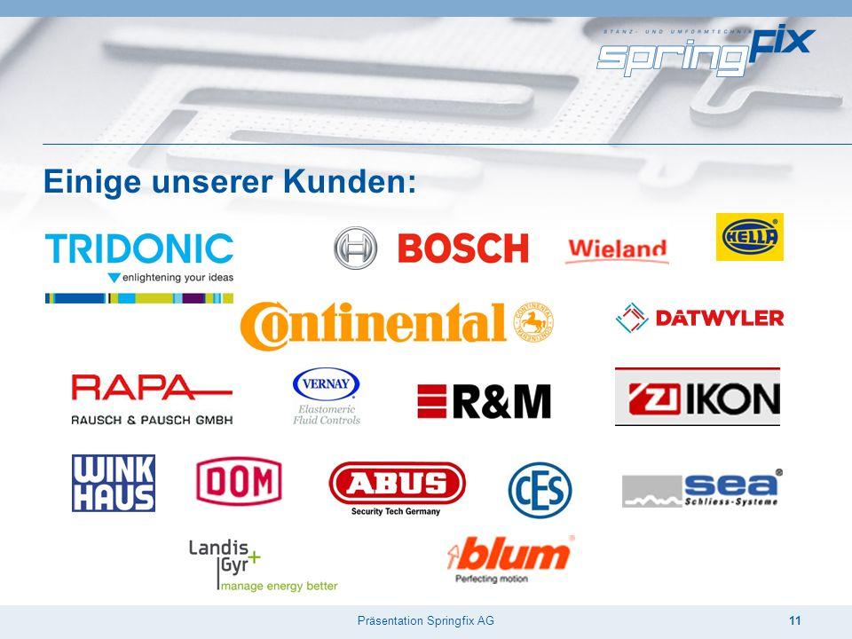 Präsentation Springfix AG11 Einige unserer Kunden: