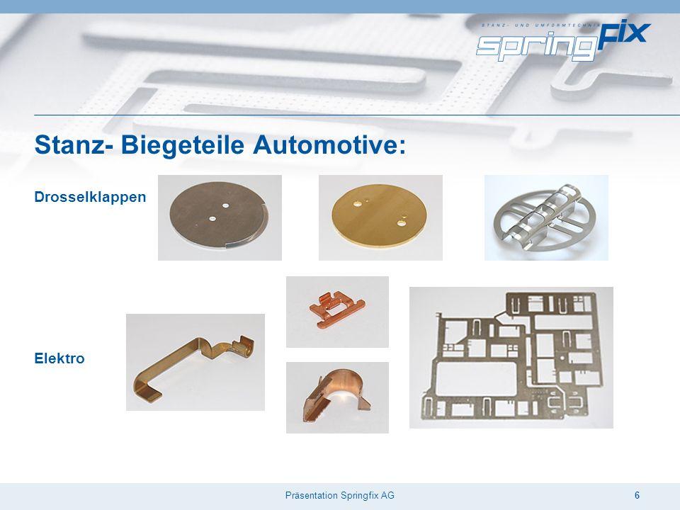 Präsentation Springfix AG6 Stanz- Biegeteile Automotive: Drosselklappen Elektro
