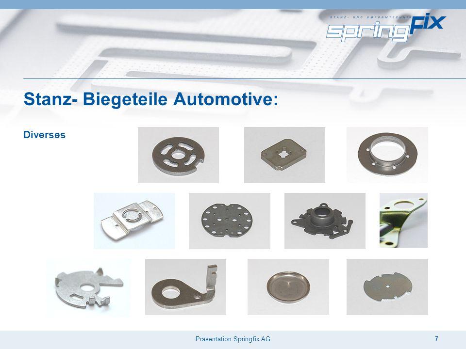 Präsentation Springfix AG7 Stanz- Biegeteile Automotive: Diverses