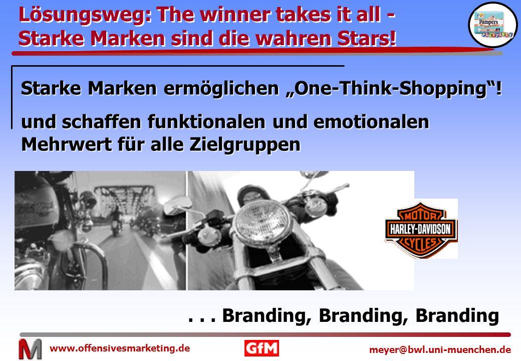 www.offensivesmarketing.de meyer@bwl.uni-muenchen.de Starke Marken ermöglichen One-Think-Shopping! und schaffen funktionalen und emotionalen Mehrwert