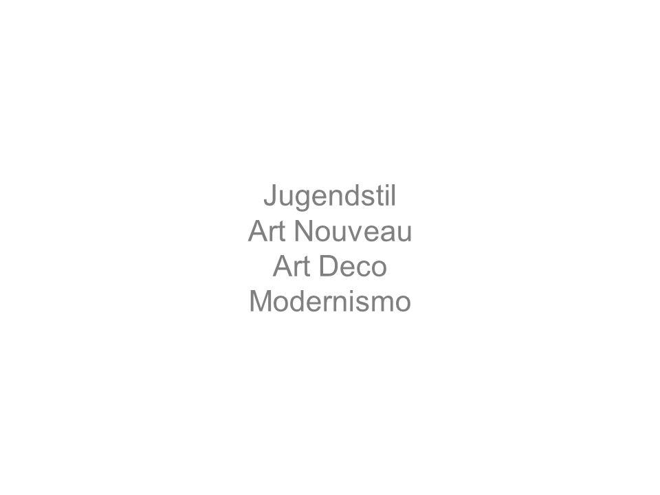 Jugendstil Art Nouveau Art Deco Modernismo