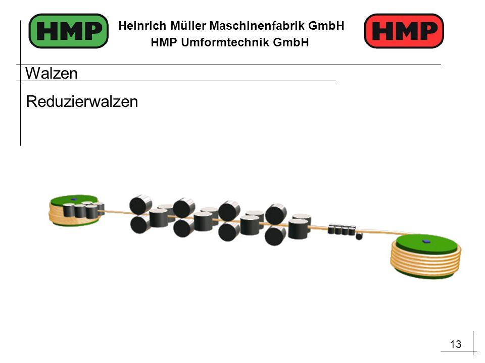 13 Heinrich Müller Maschinenfabrik GmbH HMP Umformtechnik GmbH Walzen Reduzierwalzen