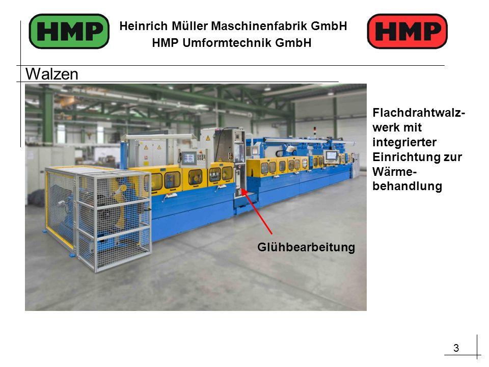 3 Heinrich Müller Maschinenfabrik GmbH HMP Umformtechnik GmbH Flachdrahtwalz- werk mit integrierter Einrichtung zur Wärme- behandlung Glühbearbeitung