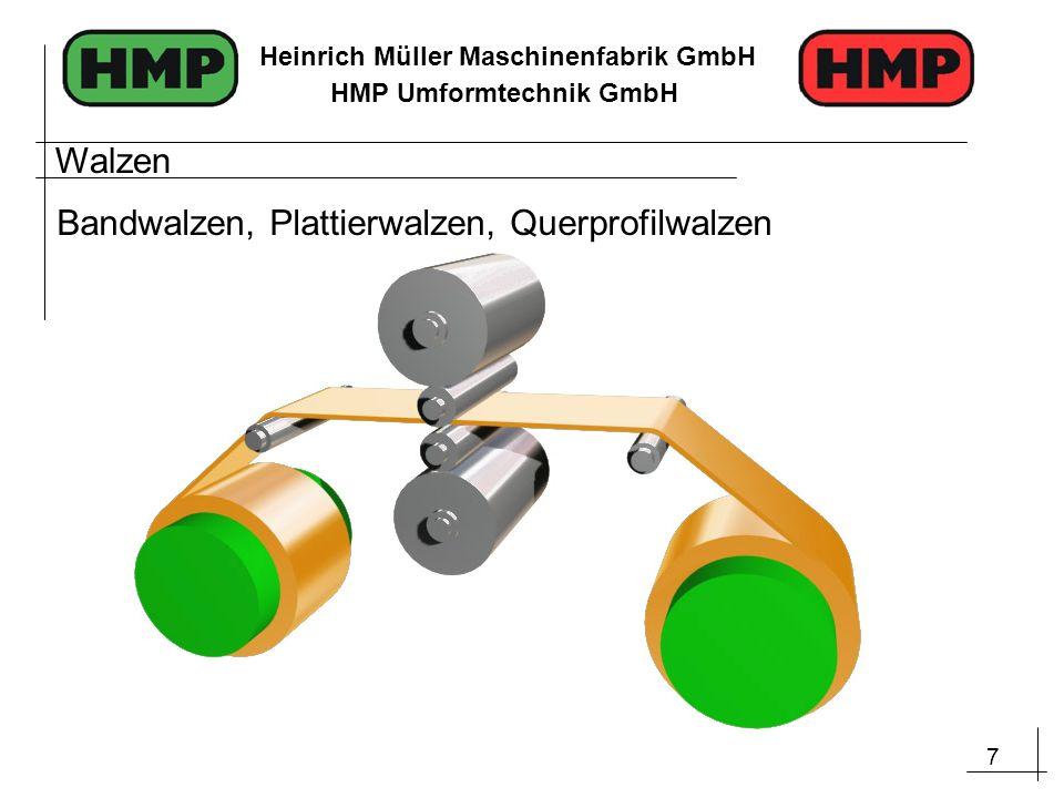 7 Heinrich Müller Maschinenfabrik GmbH HMP Umformtechnik GmbH Walzen Bandwalzen, Plattierwalzen, Querprofilwalzen