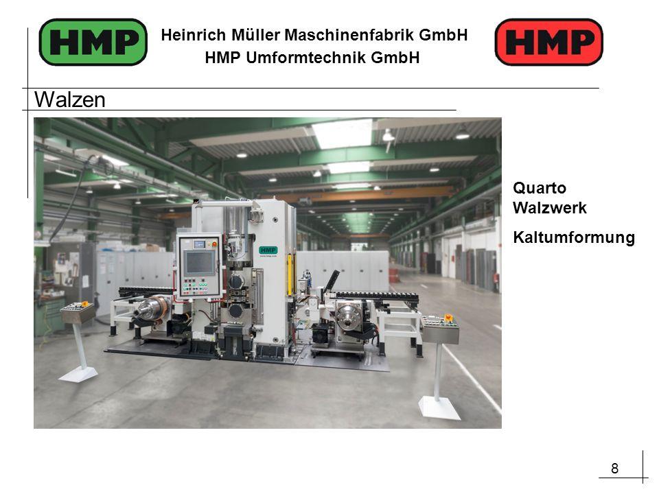 8 Heinrich Müller Maschinenfabrik GmbH HMP Umformtechnik GmbH Walzen Quarto Walzwerk Kaltumformung