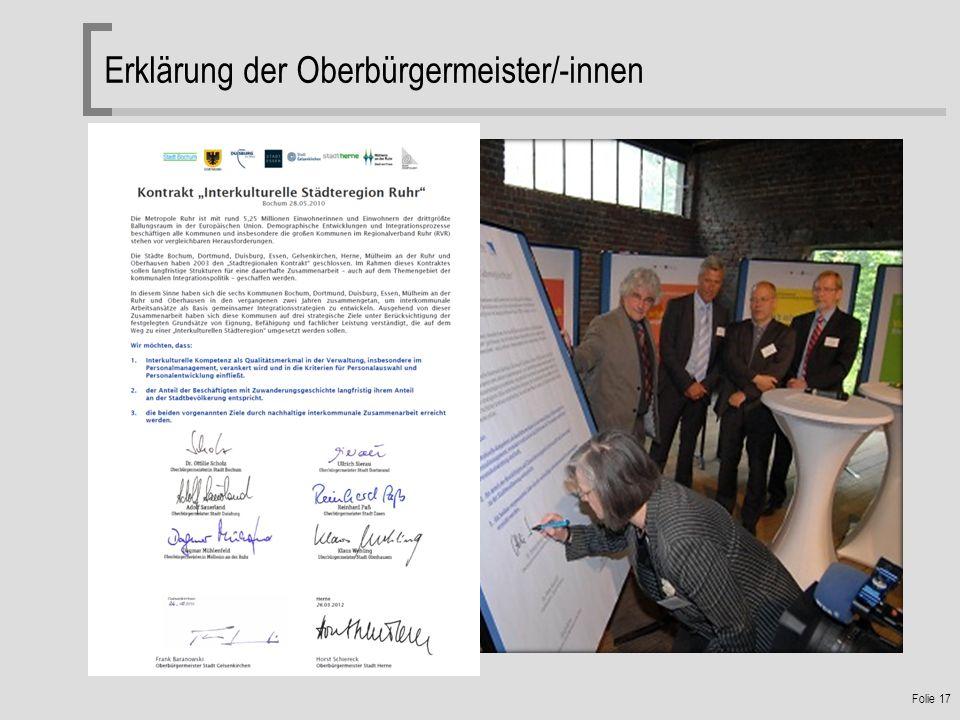 Folie 17 Erklärung der Oberbürgermeister/-innen