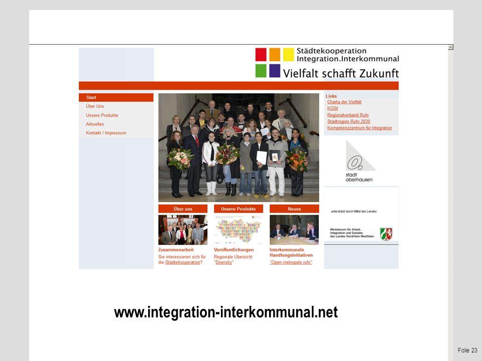 Folie 23 www.integration-interkommunal.net