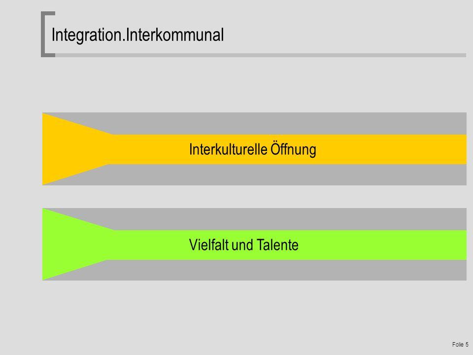 Folie 5 Integration.Interkommunal Interkulturelle Öffnung Vielfalt und Talente