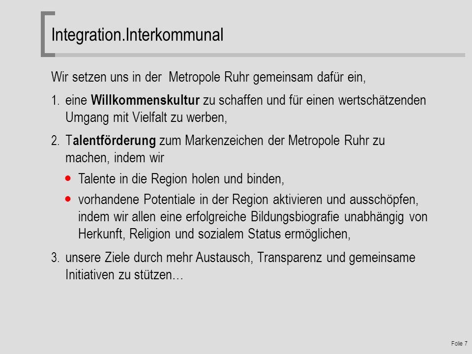Folie 7 Wir setzen uns in der Metropole Ruhr gemeinsam dafür ein, 1.