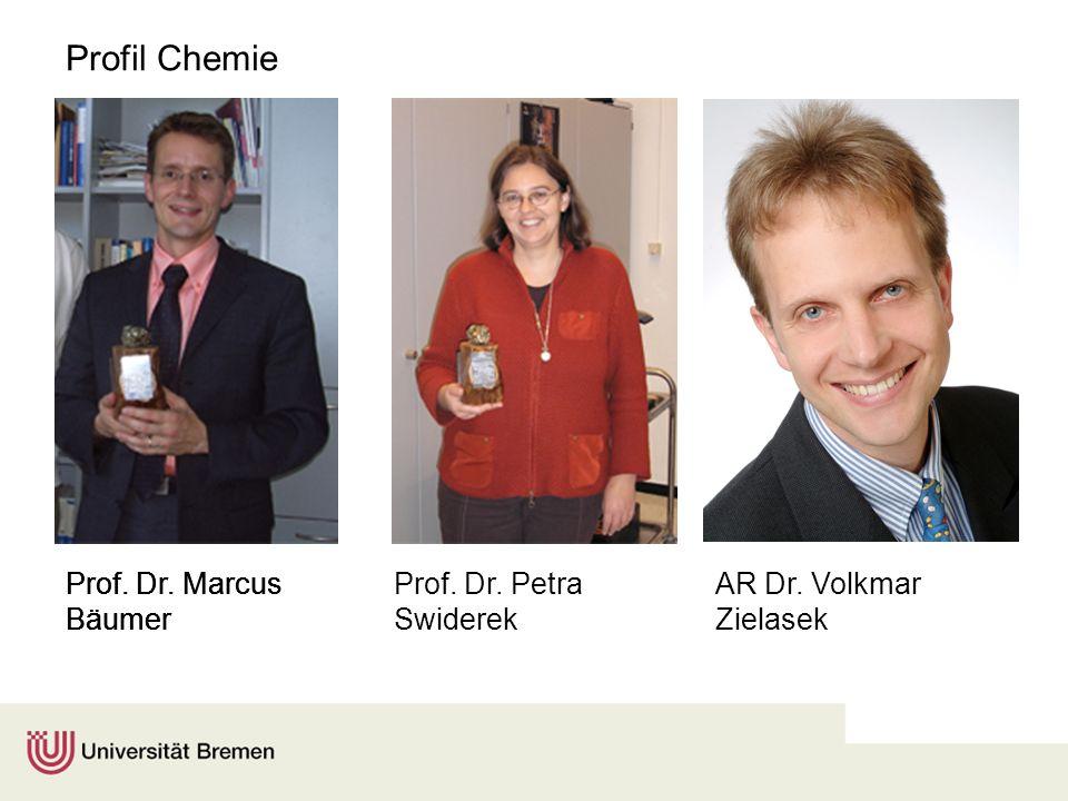 Profil Chemie Prof. Dr. Marcus Bäumer Prof. Dr. Petra Swiderek Prof. Dr. Marcus Bäumer Prof. Dr. Marcus Bäumer AR Dr. Volkmar Zielasek