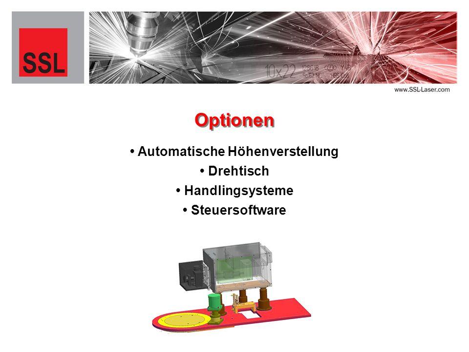 Automatische Höhenverstellung Optionen Drehtisch Handlingsysteme Steuersoftware