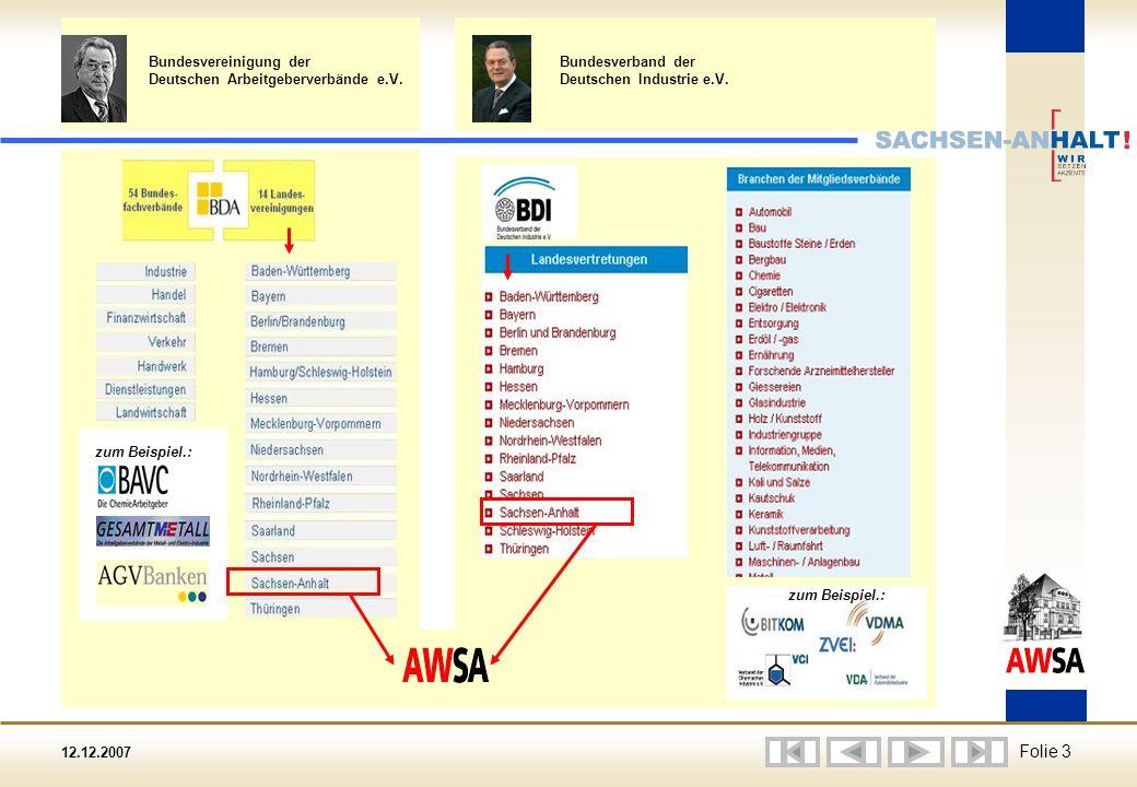 12.12.2007 Folie 3 zum Beispiel.: Bundesverband der Deutschen Industrie e.V.