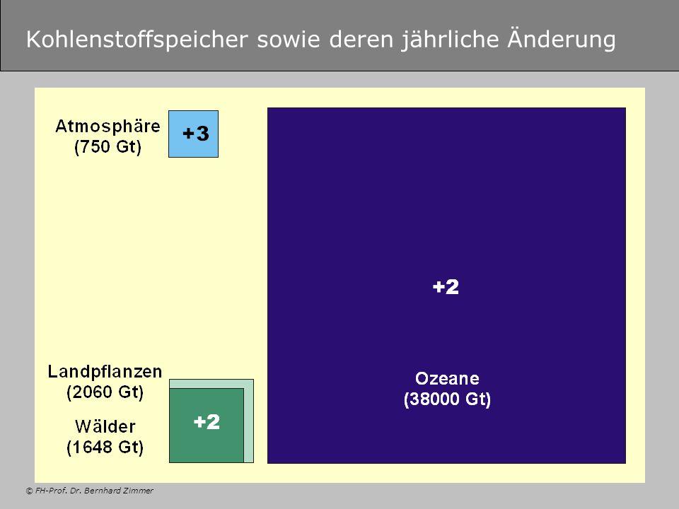 © FH-Prof. Dr. Bernhard Zimmer Kohlenstoffspeicher sowie deren jährliche Änderung