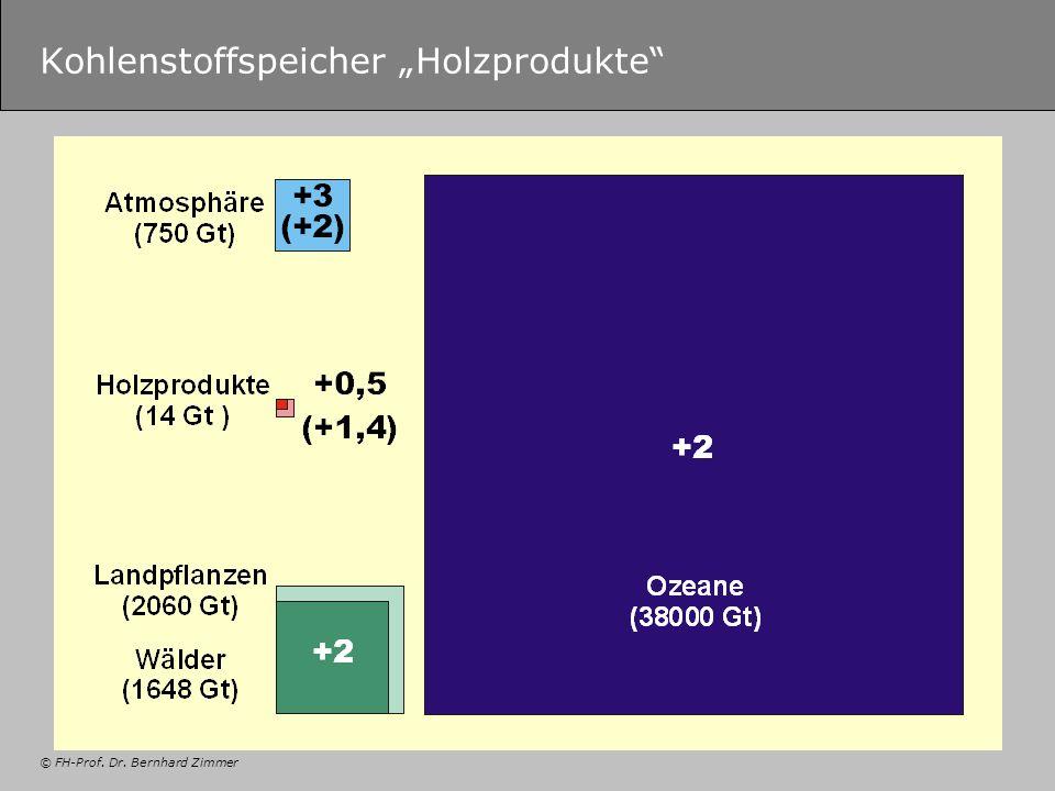 © FH-Prof. Dr. Bernhard Zimmer Kohlenstoffspeicher Holzprodukte