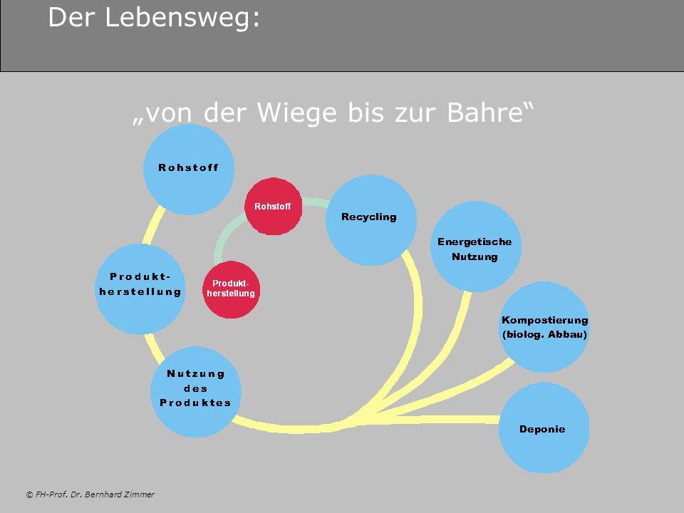 © FH-Prof. Dr. Bernhard Zimmer Der Lebensweg: von der Wiege bis zur Bahre