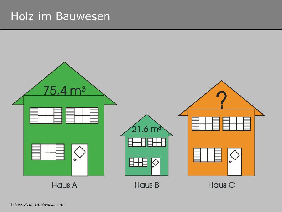© FH-Prof. Dr. Bernhard Zimmer Holz im Bauwesen