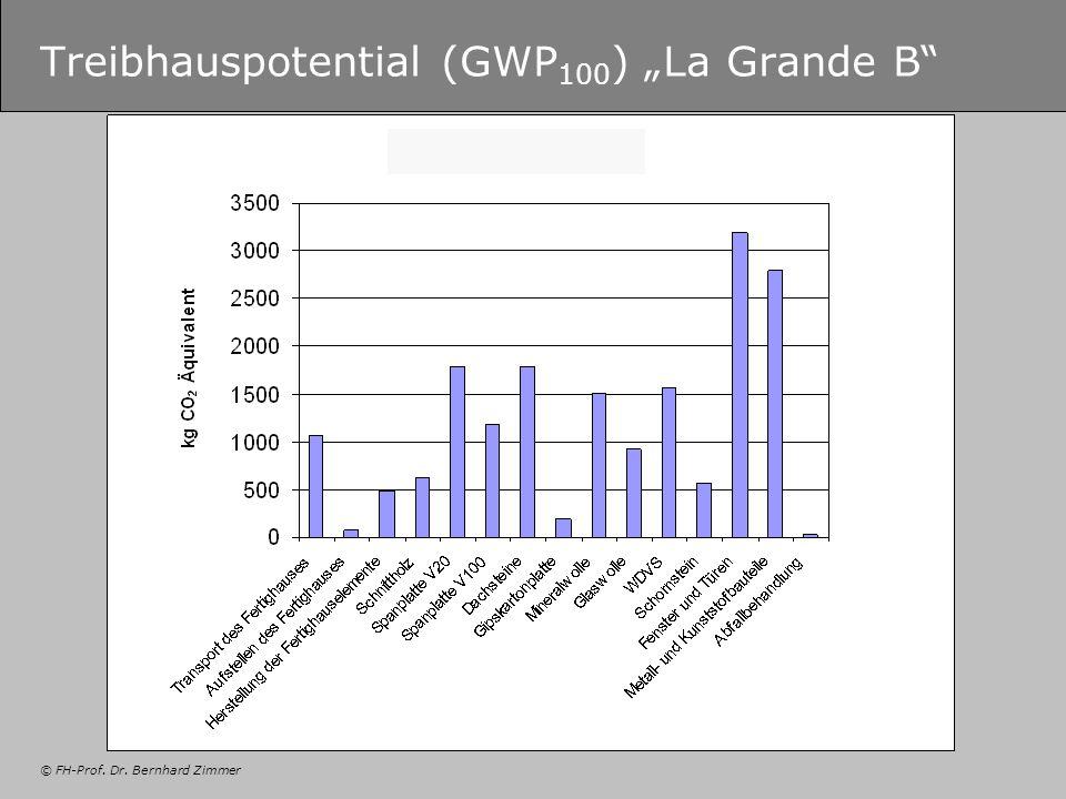 © FH-Prof. Dr. Bernhard Zimmer Treibhauspotential (GWP 100 ) La Grande B