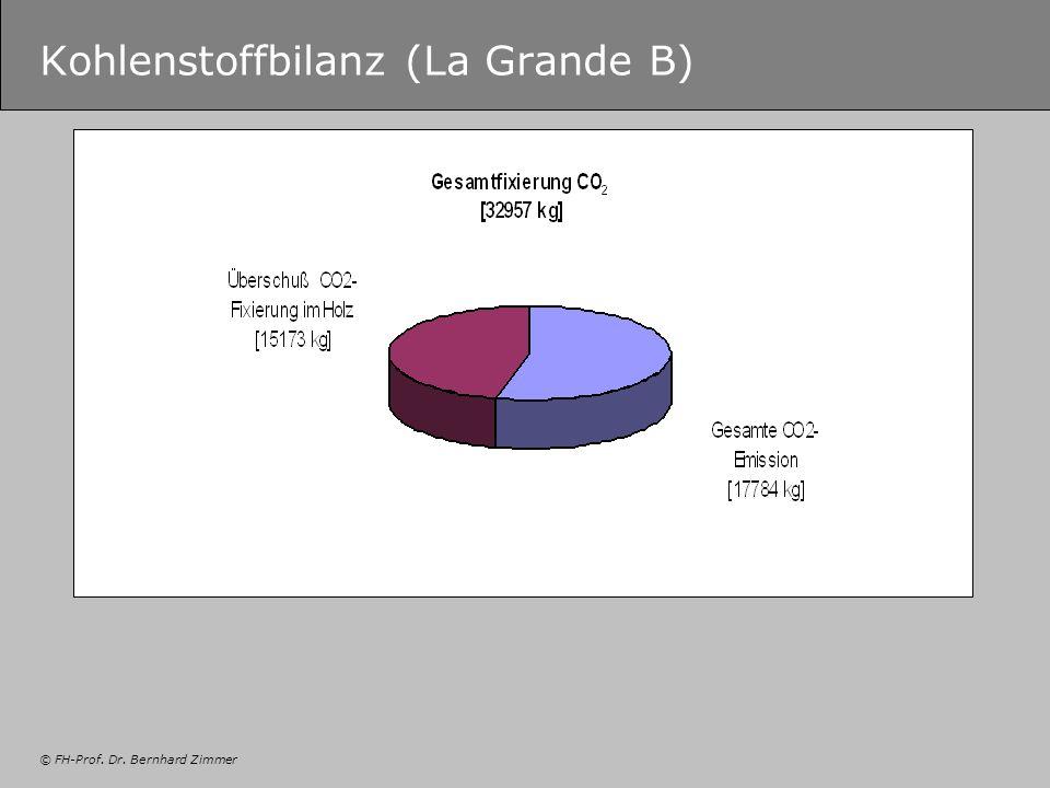 © FH-Prof. Dr. Bernhard Zimmer Kohlenstoffbilanz (La Grande B)