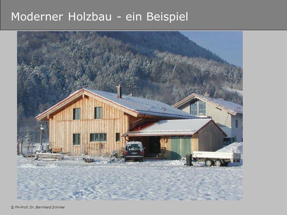 © FH-Prof. Dr. Bernhard Zimmer Moderner Holzbau - ein Beispiel