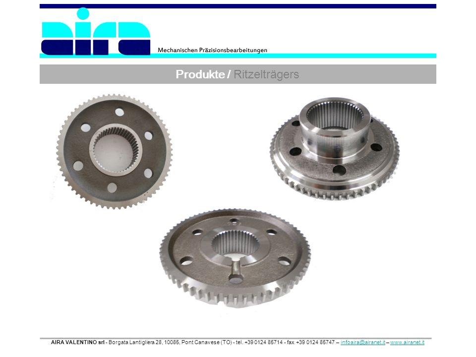 Produkte / Ritzelträgers AIRA VALENTINO srl - Borgata Lantigliera 28, 10085, Pont Canavese (TO) - tel. +39 0124 85714 - fax +39 0124 85747 – infoaira@