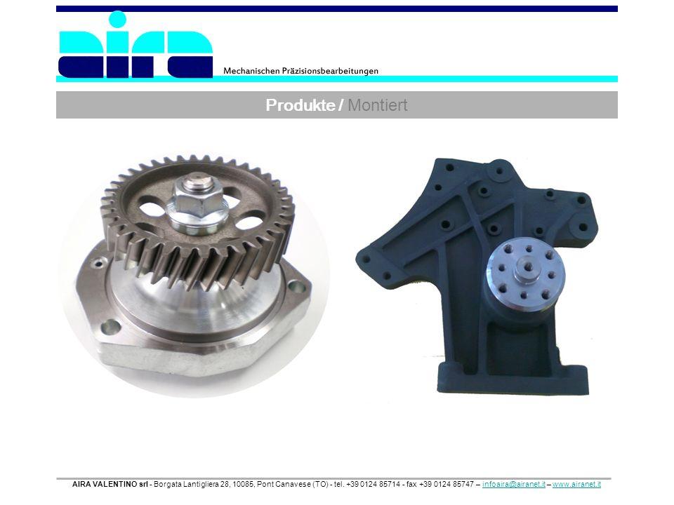 Produkte / Montiert AIRA VALENTINO srl - Borgata Lantigliera 28, 10085, Pont Canavese (TO) - tel. +39 0124 85714 - fax +39 0124 85747 – infoaira@airan