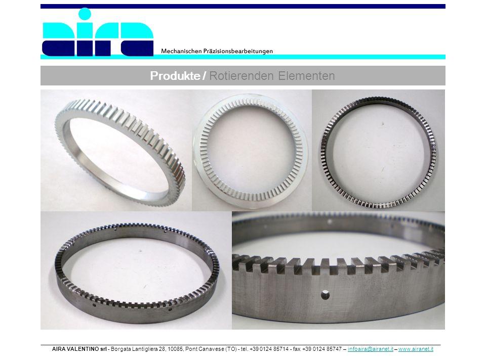 Produkte / Rotierenden Elementen AIRA VALENTINO srl - Borgata Lantigliera 28, 10085, Pont Canavese (TO) - tel. +39 0124 85714 - fax +39 0124 85747 – i