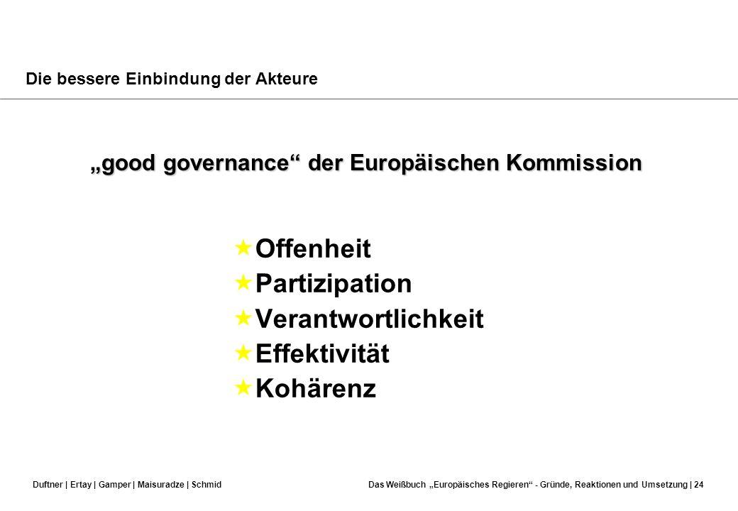Duftner | Ertay | Gamper | Maisuradze | SchmidDas Weißbuch Europäisches Regieren - Gründe, Reaktionen und Umsetzung | 23 Implikation des WBs: Programm