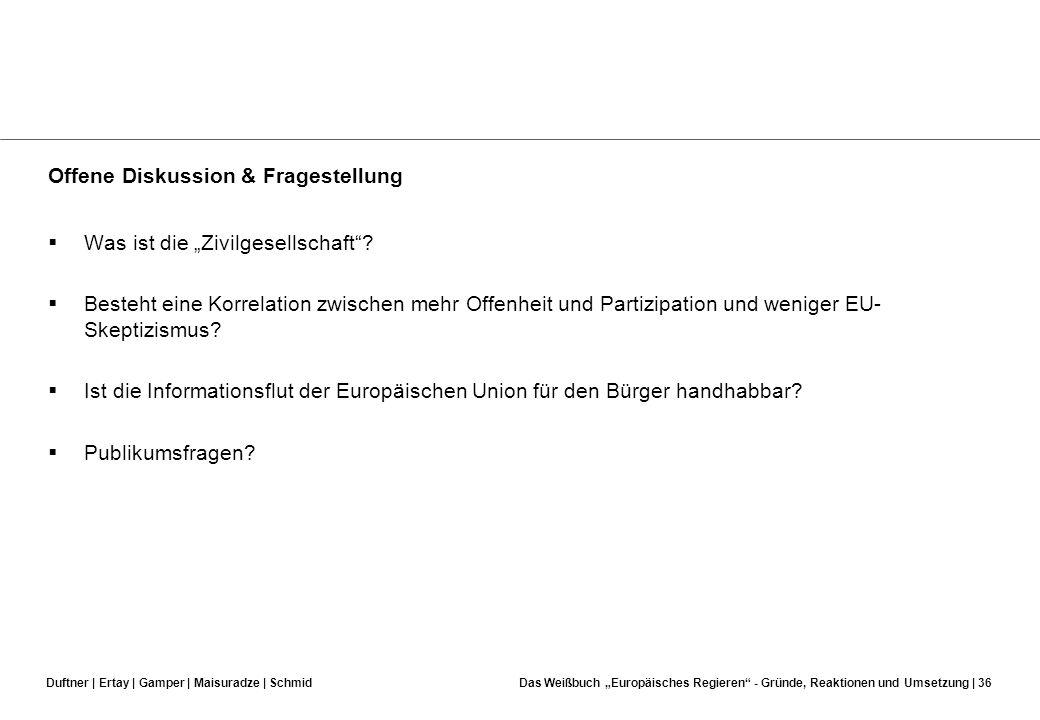 Duftner | Ertay | Gamper | Maisuradze | SchmidDas Weißbuch Europäisches Regieren - Gründe, Reaktionen und Umsetzung | 35 Auswirkung auf die Verfassung