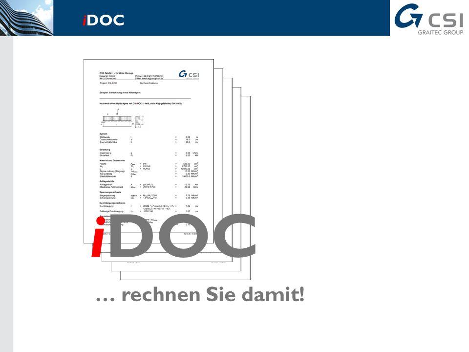… rechnen Sie damit! iDOC