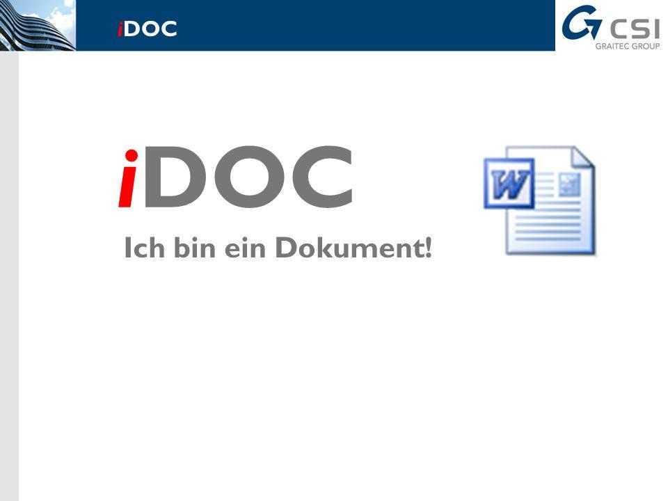 Ich bin eine Berechnung! iDOC