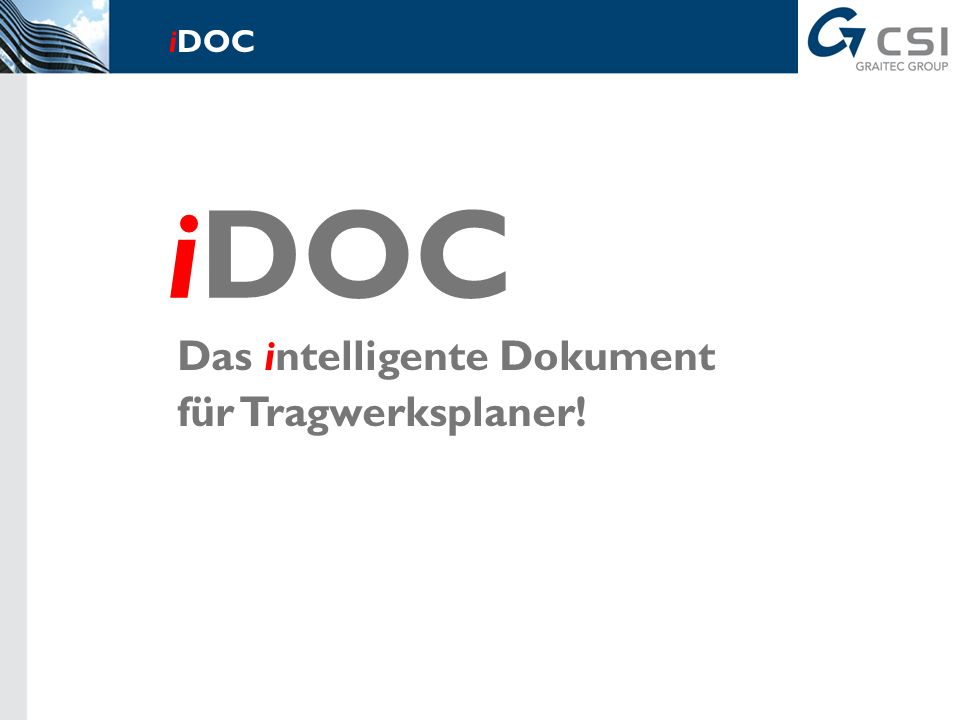 iDOC - Das intelligente Dokument