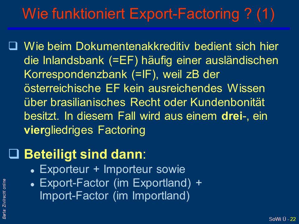 SoWi Ü - 22 Barta: Zivilrecht online Wie funktioniert Export-Factoring .
