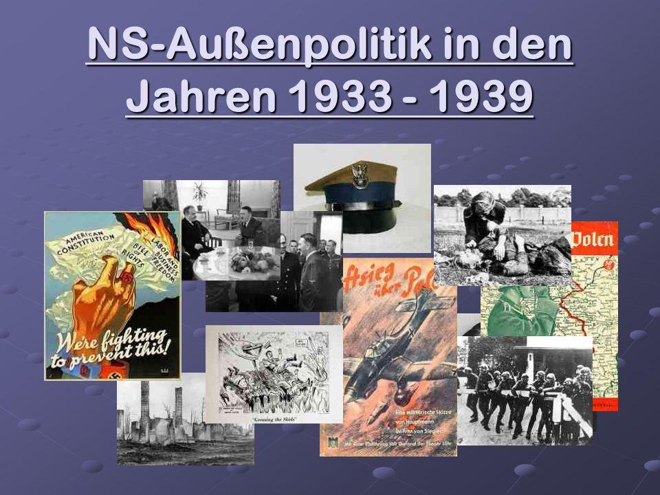 NS-Außenpolitik in den Jahren 1933 - 1939