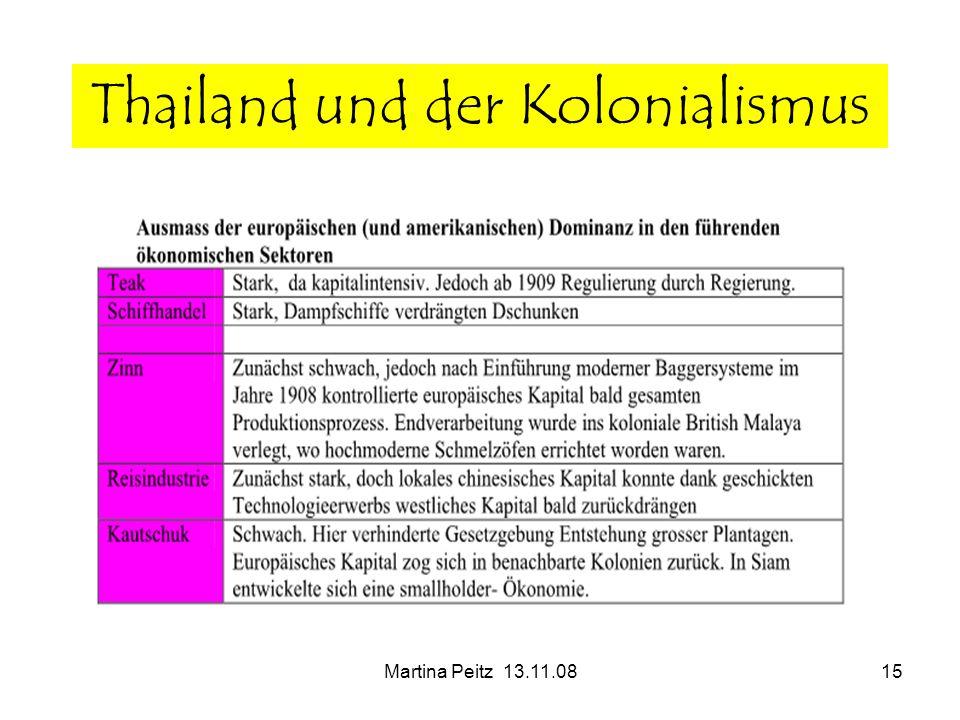 Martina Peitz 13.11.0815 Thailand und der Kolonialismus