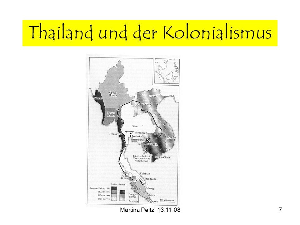 Martina Peitz 13.11.087 Thailand und der Kolonialismus