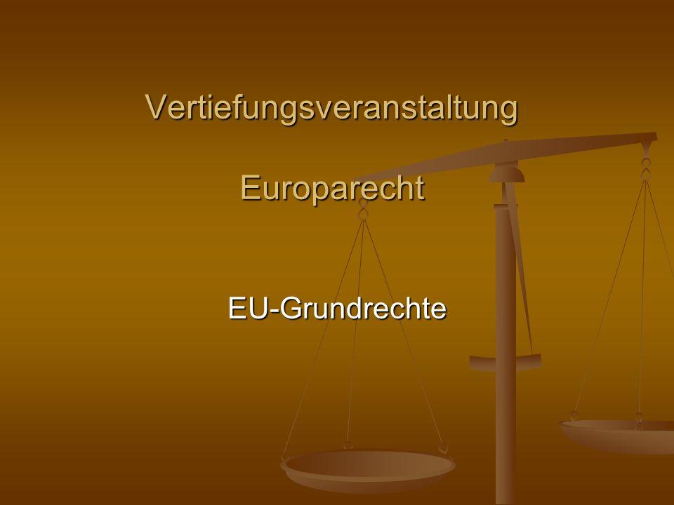 EU-GRUNDRECHTE Vorwort Jurisprudenzielle Jurisprudenzielle Entwicklung 1.