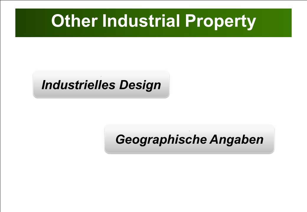 Other Industrial Property 1 Industrielles Design 1 Industrielles Design 1 Geographische Angaben 1 Geographische Angaben