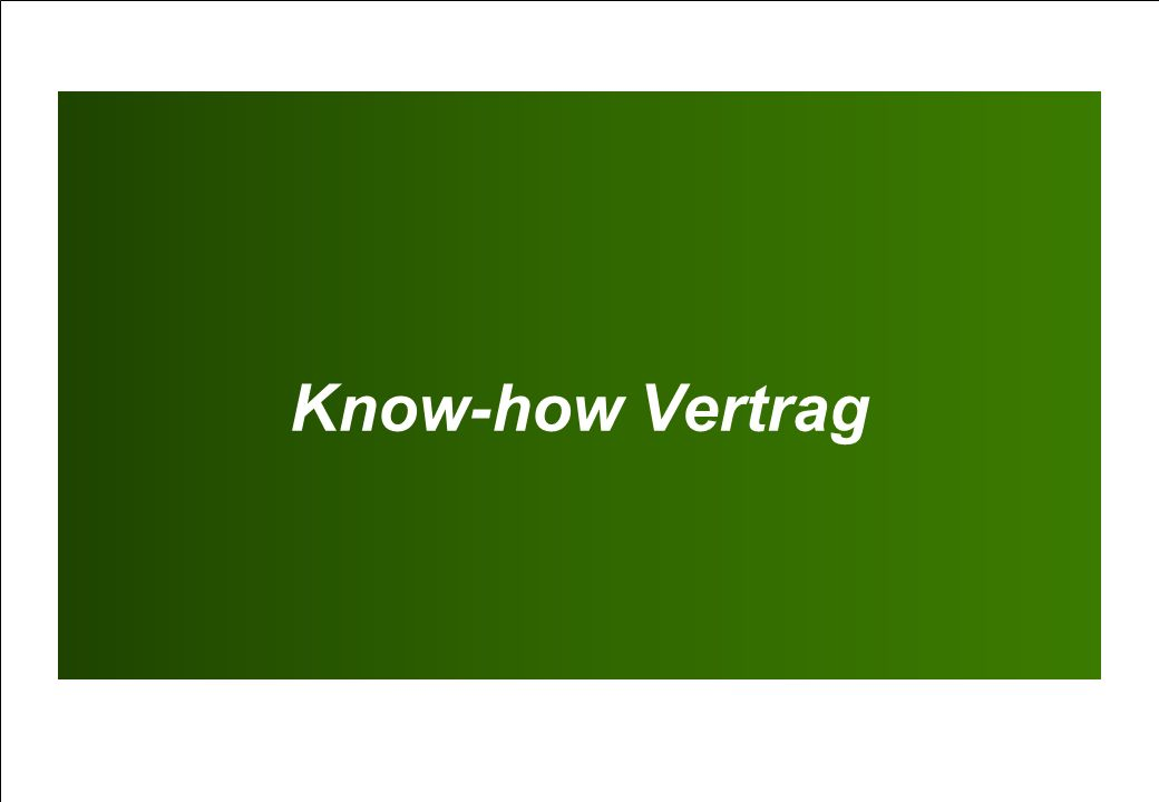 Know-how Vertrag