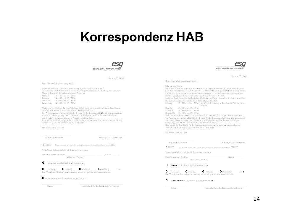 24 Korrespondenz HAB