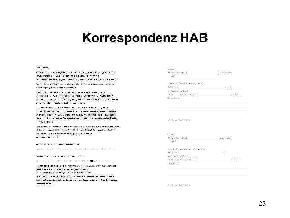25 Korrespondenz HAB